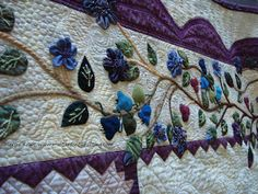 """""""Infinity"""" detail: pieced by Joan Anderson quilted by Margie Kraft. Winner of HMQS 3rd Place Applique Catagory and Best of Show-Desert Sage Quilt Show"""