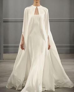 Style Inspiration // A fluid silk cape to make this gorgeous white dress modest…
