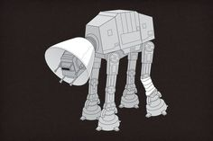 At-At Walker wears cone of humiliation
