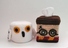 Harry Potter and Hedwig the Owl Themed Tissue by TampaBayCrochet