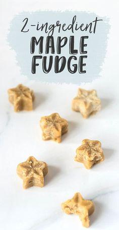 2-Ingredient Maple Fudge (Vegan + Paleo)