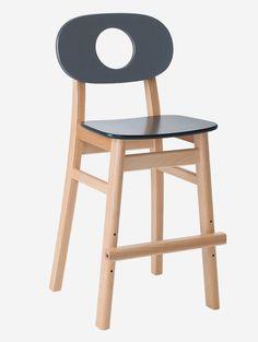 HUKIT stol. 3-9 år. Sittehøyde 53cm. 10 års garanti