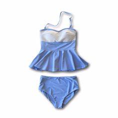 Cinderella Sequin Peplum Tankini - $88