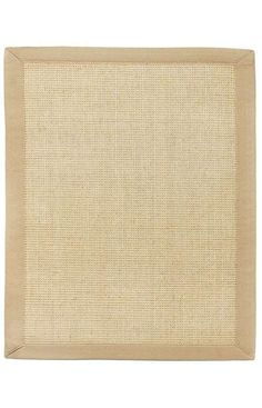 Sisal fiber is exceptionally strong and durable and is one of the most hard-wearing natural fibers. It does not absorb moisture easily and resists saltwater deterioration so it's an excellent option for seaside home decor. Sustainably harvested in Southern China where the hot, dry climate offers perfect growing conditions. Beige sisal in a boucle weave Khaki cotton border with mitered edges Non-slip latex backing Machine woven Rug pad recommended . Vacuum regularly. Spot clean with a dam...