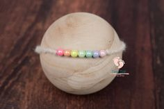 Rainbow Baby Tieback for Newborn Photography. Newborn Photography Props, Newborn Photo Props, Newborn Photos, Knit Wrap, Rainbow Baby, Color Pop, Wraps, Beaded Bracelets, Knitting