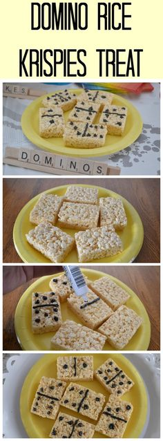 Rice Krispies Dominoes