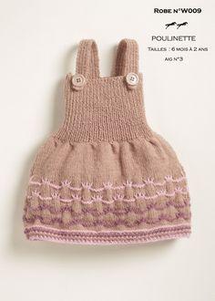ROBE N°W009 - Tuto tricot gratuit  - Laine POULINETTE - Laines Cheval Blanc