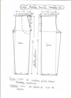 Esquema de modelagem de calça de moletom masculina tamanho 36. Dress Sewing Patterns, Clothing Patterns, Mens Pants Sizes, Pink Punch, Plus Size Sewing, Diy Shorts, Baby Pants, Pattern Drafting, Pattern Illustration