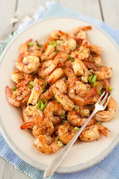 Shrimp with Spicy Garlic and Ginger Sauce