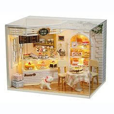 Doll Houses Amiable New Wooden Doll House Miniature Coffee Store Diy Dollhouse With Furnitures House Toy