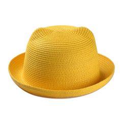 Free Shipping 2016 New Lovely Spring Summer Beach Women Multicolor Cat Ear Straw Sun Hat