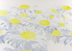 Watercolor Painting Demonstrations | Step 2 of white daisies watercolor painting demonstration