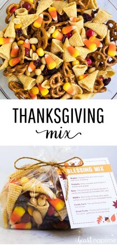 Thanksgiving blessing mix + free printable – A sweet and salty snack mix that is perfect for gift giving or holiday snacking. Thanksgiving blessing mix + free printable – A sweet and salty snack mix that is perfect for gift giving or holiday snacking. Thanksgiving Snacks, Thanksgiving Blessings, Fall Snacks, Holiday Snacks, Fall Recipes, Holiday Recipes, Best Sweet Potato Casserole, New Year's Food, Apps
