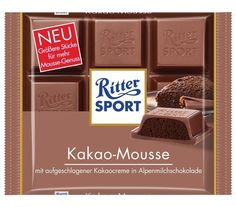 4 Bars Ritter Sport Cocoa Mousse Original Famous German Chocolate 400g #RitterSport