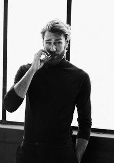 Beard and turtleneck