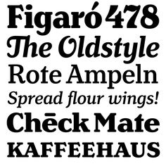 """Henriette   Typeface Review   Typographica: the Bold """"g"""" is my favorite thing this week. Lovely."""