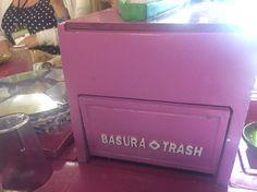 Coolest trash bin! #Mexico #XoxiMilco #Weddings #Unique