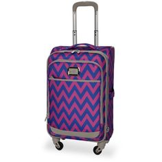 Jessica Simpson Orchid Blue Chevron 21 Sp Pk ($66) ❤ liked on Polyvore featuring bags, luggage and orchid blue