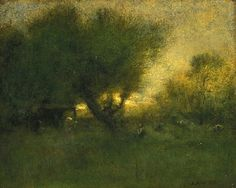 George Inness, American, 1825-1894 In the Gloaming 1893 Oil on canvas