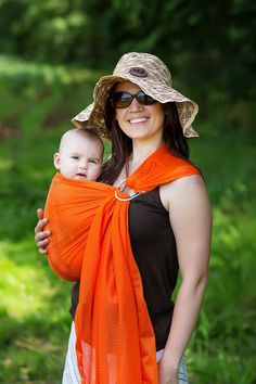32b85fbf812 Marmalade - Orange Mesh. African BabiesRing SlingBaby ...