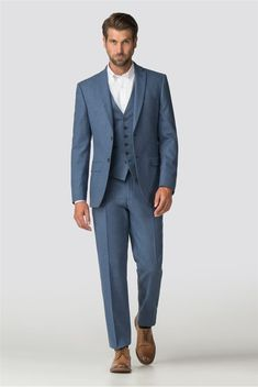 Whether a tuxedo, dinner jacket or morning coat, our selection of formal suit jackets and blazers is sure to make an impression at any occasion or event. Best Suits For Men, Mens Suits, Green Suit Men, Suits Direct, Air Force Blue, Tweed Suits, Blue Color Schemes, Men Formal, Three Piece Suit