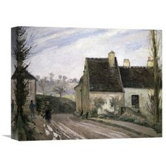 Global Gallery 'Les Masures Pres D' Osny' by Camille Pissarro Painting Print on Wrapped Canvas Size: