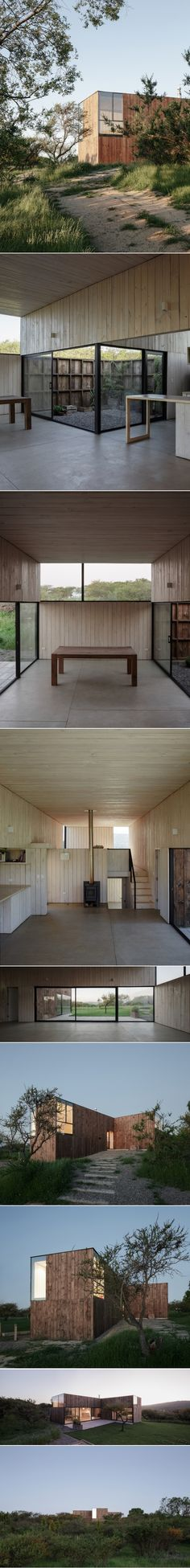 Architect Visit: In Chile, a 1,400-Square-Foot House Rests Lightly on the Land: Gardenista