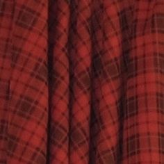 Lake of the Woods (Red Plaid) Drapes