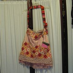 Reconstructed Recycled EcoFriendly Hand Bag by GoodKharmaReThreads, $34.99