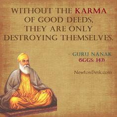 Sikh Quotes, Gurbani Quotes, Karma Quotes, Punjabi Quotes, Wisdom Quotes, Words Quotes, Guru Nanak Photo, Guru Nanak Teachings, Hinduism Quotes