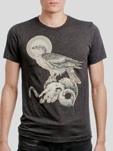 949052d58 Ram Skull - Multicolor on Heather Black Triblend Mens T Shirt - Curbside  Clothing