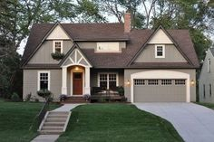 Tips for Choosing an Exterior House Color Combination, How to Choose an Exterior House Color Combination,Color Combination Ideas for the Exterior of My House,Exterior Paint Color Combinations,House Color Combinations - Exterior House Painting Ideas Stucco Colors, Exterior Colors, Exterior Design, Exterior Trim, Ranch Exterior, Roof Colors, Best Exterior Paint, House Paint Exterior, Stucco Paint