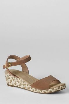 Women's Reese Low Wedge Sandals from Lands' End