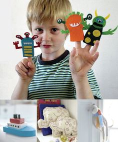 I think I could do this! Monster Finger Puppets