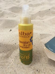 Alba Botanica, Coconut Dry Oil with SPF 15, Natural Sunscreen