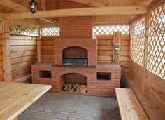 Backyard Cabana, Hot Tub Backyard, Backyard Gazebo, Backyard Patio Designs, Outdoor Pergola, Outdoor Kitchen Patio, Outdoor Kitchen Design, Outdoor Fireplace Designs, Pallet Patio Furniture
