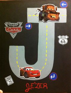Disney Cars Personalized Homemade Nursery Decor Wall Letters Kids -  signs of cars with names