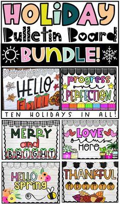 Classroom Holiday Bulletin Board Bundle