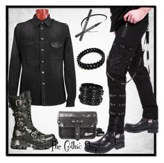 """Men's gothic clothing"" by thegothicshop ❤ liked on Polyvore featuring katesclothing"