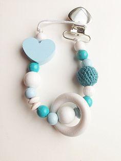 Accessori babay perline ciuccio clip. regalo del di MeAndBelle00
