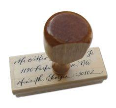 paperfinger — Name & Return Address Stamp Set (with Custom Calligraphy)