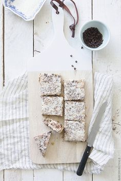 Coconut, Chocolate, and Almond Bars via Bakers Royale
