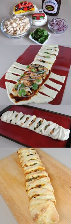 Barbecue Chicken Pizza Braid...... Pinned for concept - not fillings :p