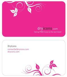 Simple fresh petals female theme business card background design