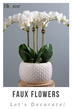 Discover countless varieties of silk orchids in almost every color, and enjoy the life they bring to your home or workspace. Shop the finest Artificial Orchids arrangements crafted by real florists, from Bloomr. Orchid Flower Arrangements, Orchid Centerpieces, Indoor Orchids, Artificial Orchids, Orchids Garden, Silk Orchids, White Orchids, Arte Floral, Faux Flowers