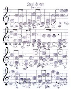 "Wedding Guest Book Alternative, Music Theme, Thumbprint, Sheet Music, Custom Made, 11""x14"", Music Note Wall Art Poster, 50-100 guests by SaraAart on Etsy"