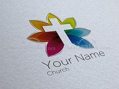 Otro logo para iglesia muy colorista