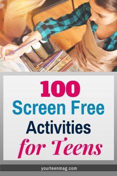 Screen Free Activities for Teens – Your Teen Magazine Screen Free Activities for Teens Finding things to do that don't involve screens can be difficult. Here's a list of 100 screen free activities for your teen. Parenting Teens, Good Parenting, Parenting Hacks, Parenting Classes, Parenting Styles, Parenting Quotes, Free Activities For Kids, Indoor Activities, Teen Boy Activities