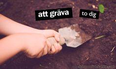 att gräva