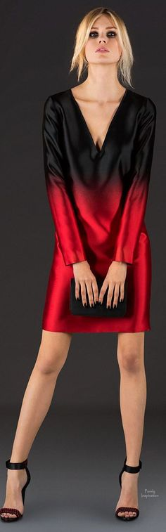 Ombre black to red dress
